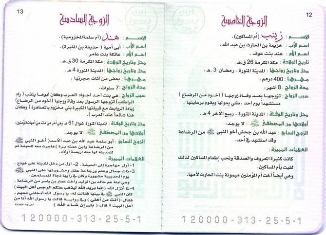 مذا تعرف عن خير الخلق الـــبــطاقة الـ ـائلية للنبي محمد صلى الله عليه وسلم
